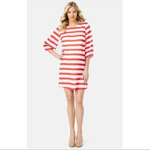Rosie Pope Keri red and white maternity dress
